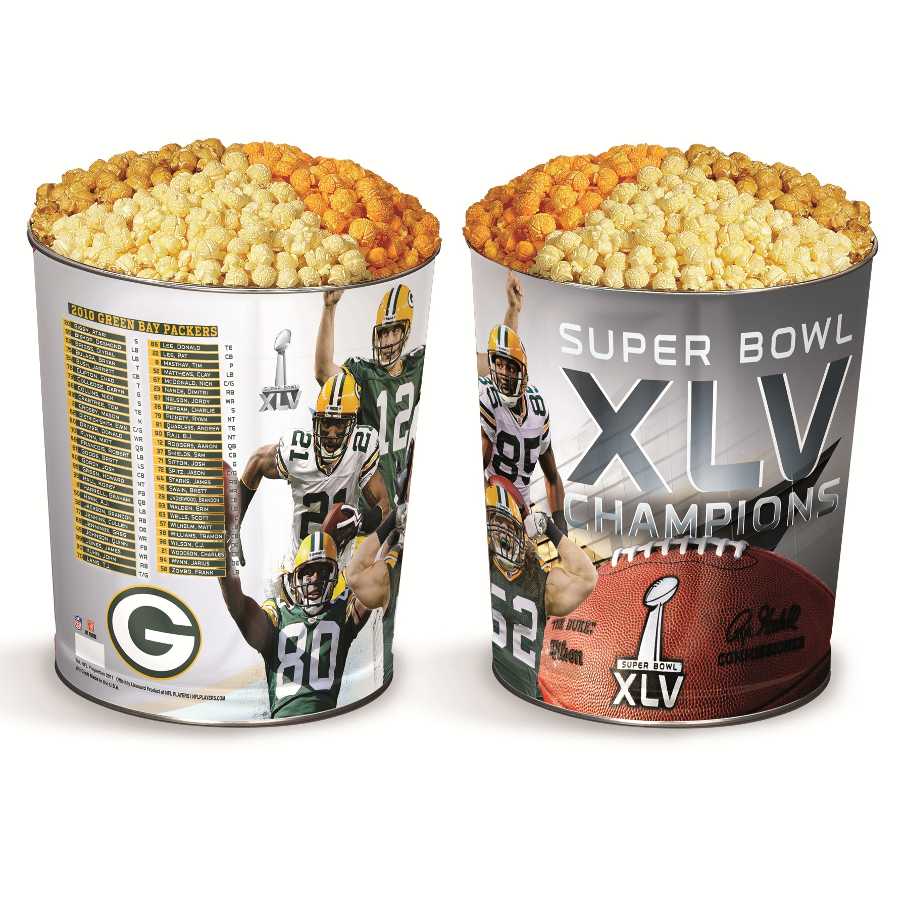 Commemorative Super Bowl XLV Popcorn Tin