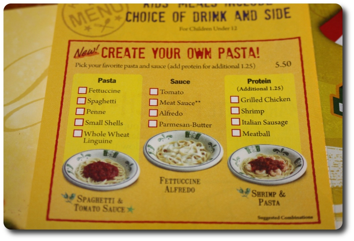 Olive garden never ending pasta bowl review 25 g c giveaway closed the mama report for Olive garden create your own pasta