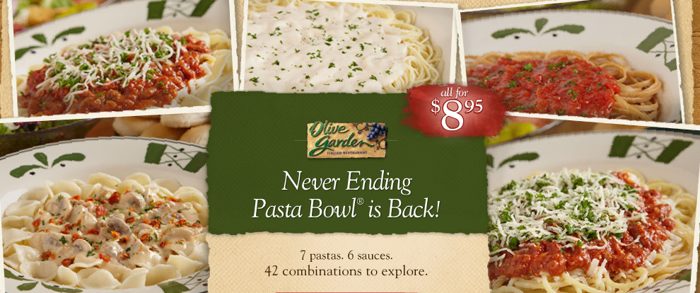 Olive Garden Never Ending Pasta Bowl Review & $25 G.C. Giveaway ...