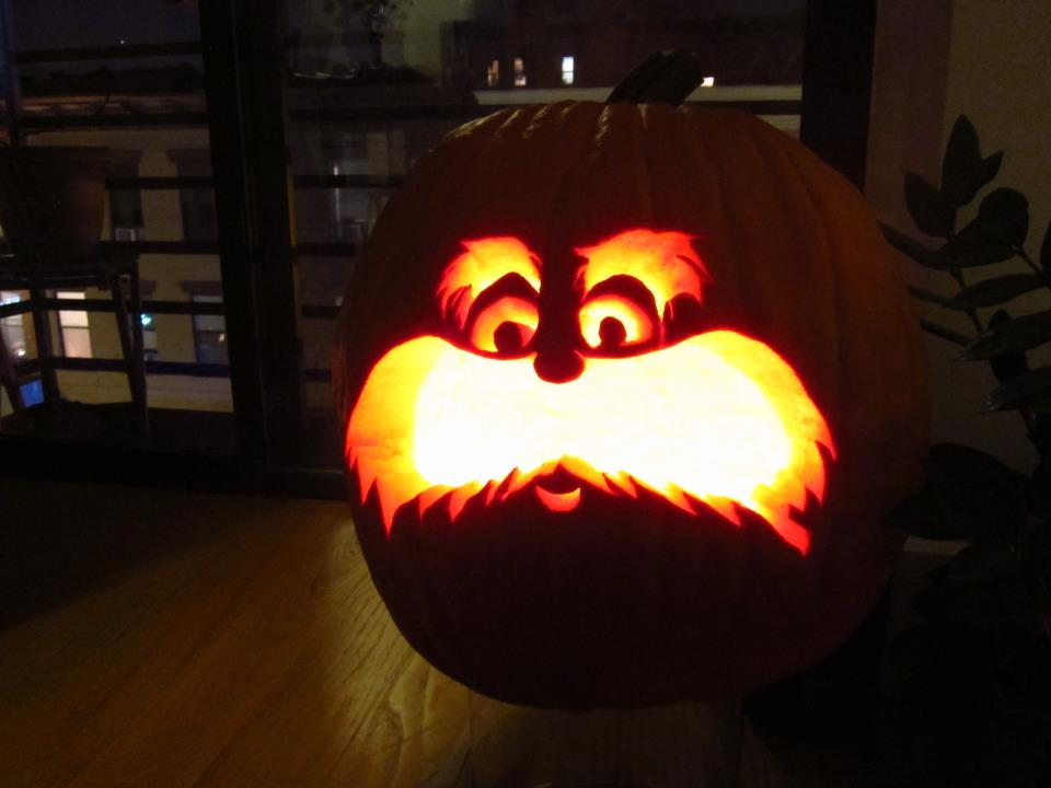 Dr. Seuss\' The Lorax Free Pumpkin Carving Template | The Mama Report