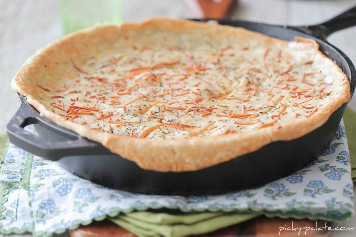 chicken parmesan skillet pot pie from the picky palate