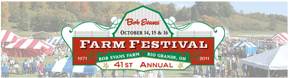 41st Annual Bob Evans Farm Festival (October 2011)+ a Flip Camera Giveaway!