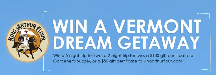 King Arthur Flour's Vermont Dream Getaway Sweepstakes