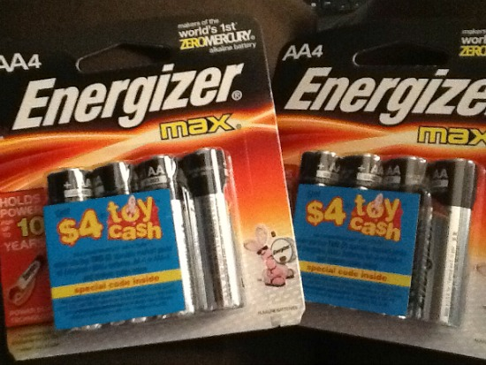 Toy Cash via Energizer MAX batteries with Power Seal Technology & a Cash For Batteries on