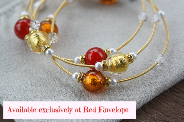 murano red envelop bracelet