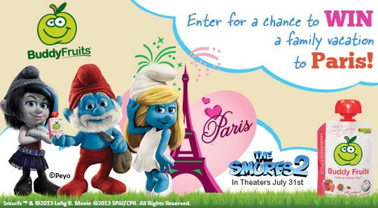 Win a Trip to Paris with Buddy Fruits & The Smurfs 2