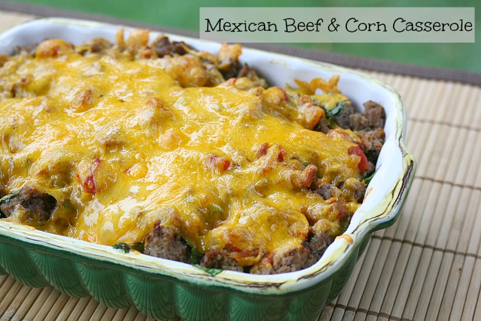 country crock mexican beef & corn hotdish