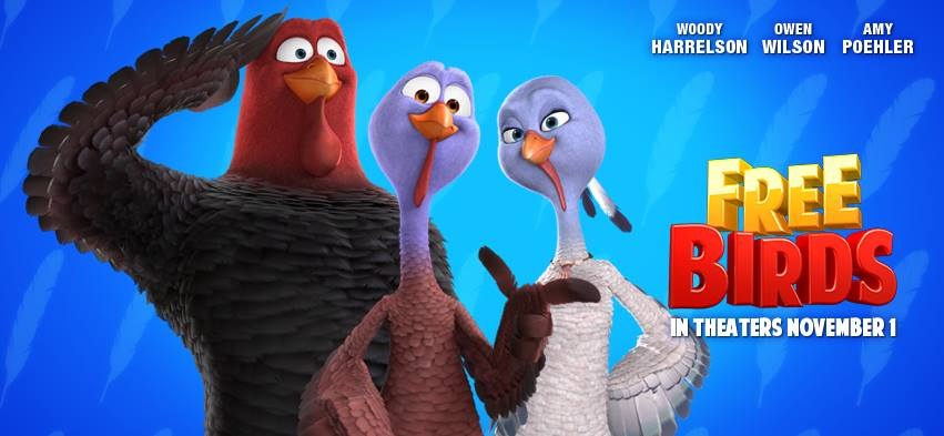don't forget about thanksgiving! free birds new trailer, Powerpoint templates