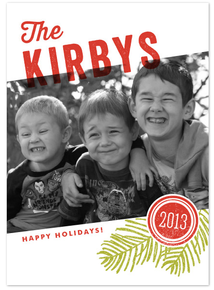 minted happy holidays card