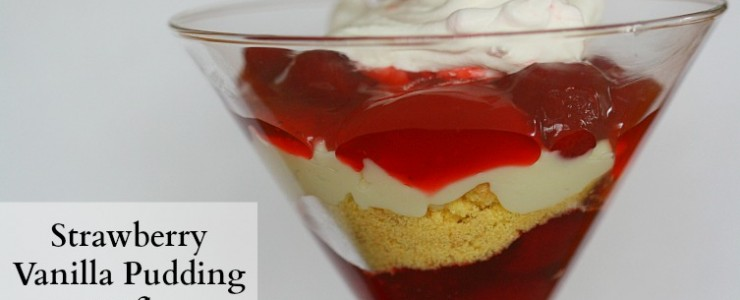 Strawberry Vanilla Pudding Trifle {#LuckyLeafSpring}
