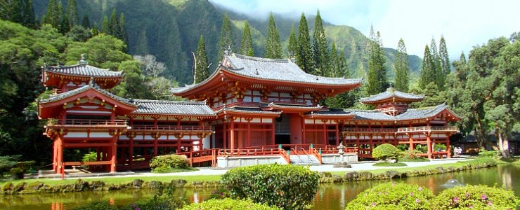 Exploring Byodo-In Temple, Kahaluu, O'ahu, Hawaii