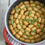 One-Pot Minnesota Wild Rice Tator Tot Hotdish