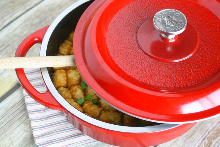 One Pot Tator Tot Hotdish