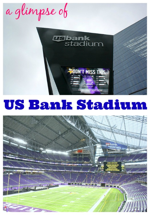 A Glimpse Inside of the US Bank Stadium