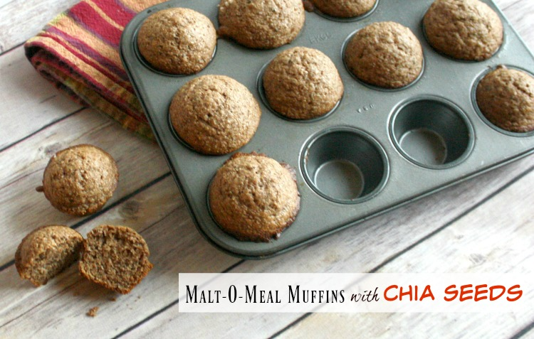 Malt o Meal muffins with Chia Seeds