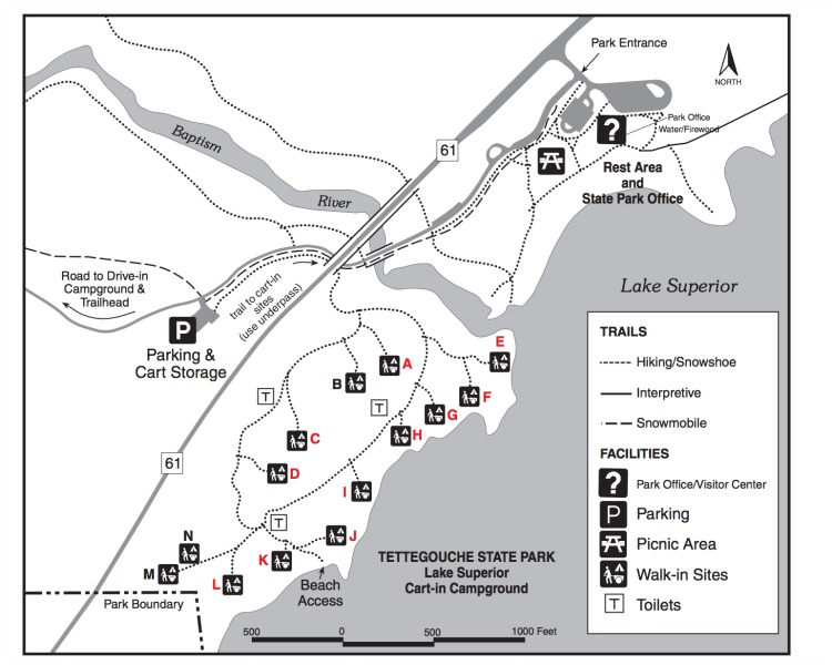 Tettegouche State Park map
