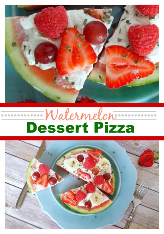 Watermelon Dessert Pizza - Easy Dessert