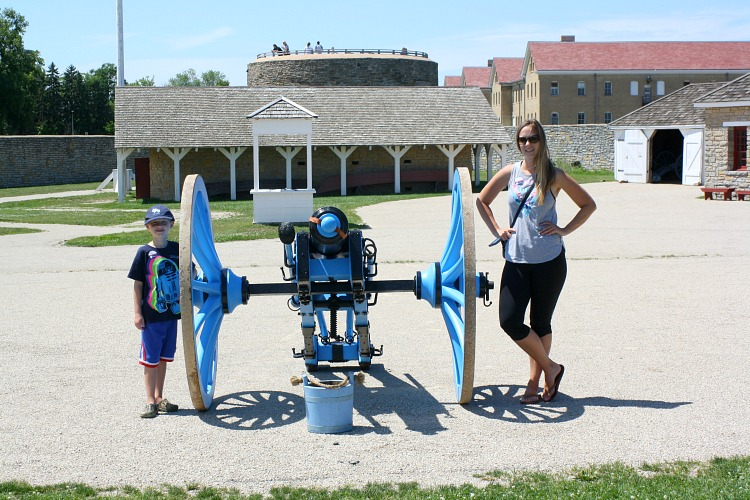 Cannon at Fort Snelling