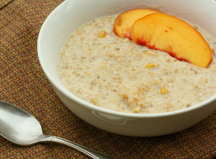 Peach & Brown Sugar Steel Cut Oats