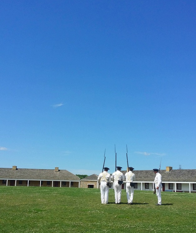 Soldiers at Fort Snelling