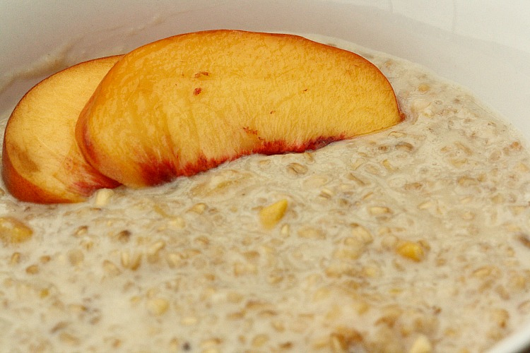 Steel Cut Oats with Peaches