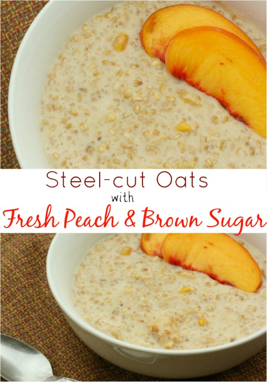 Steel-cut Oats with Fresh Peaches