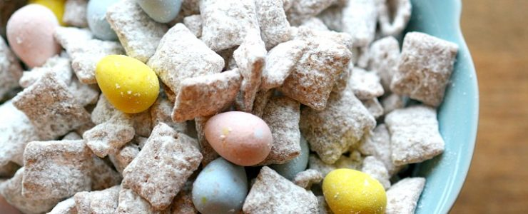 Easter Puppy Chow with Robin Eggs