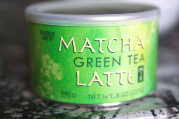 Trader Joe's Matcha with Fresh Strawberries
