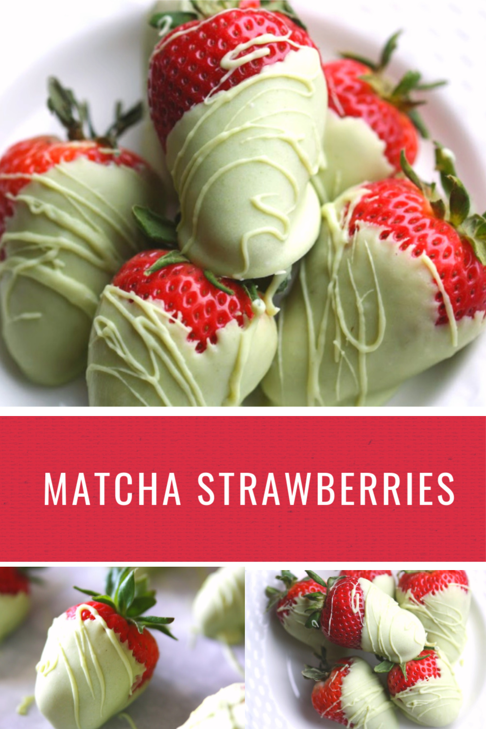 Matcha Almond Bark Strawberries