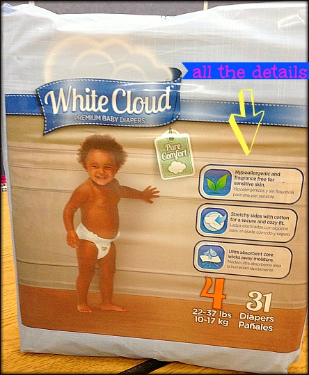 white cloud diapers for sensitive skin