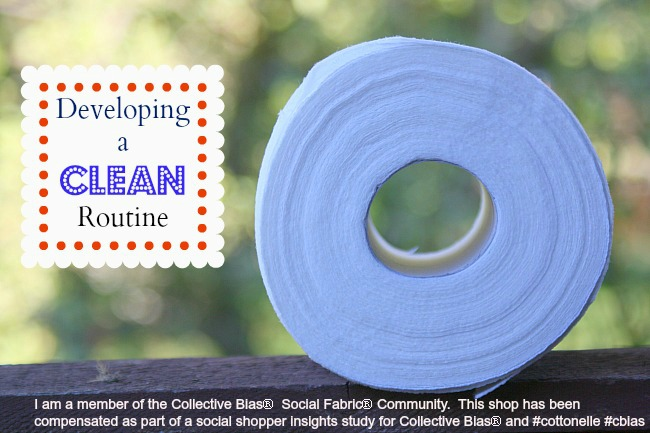 developing a clean routine with cottonelle