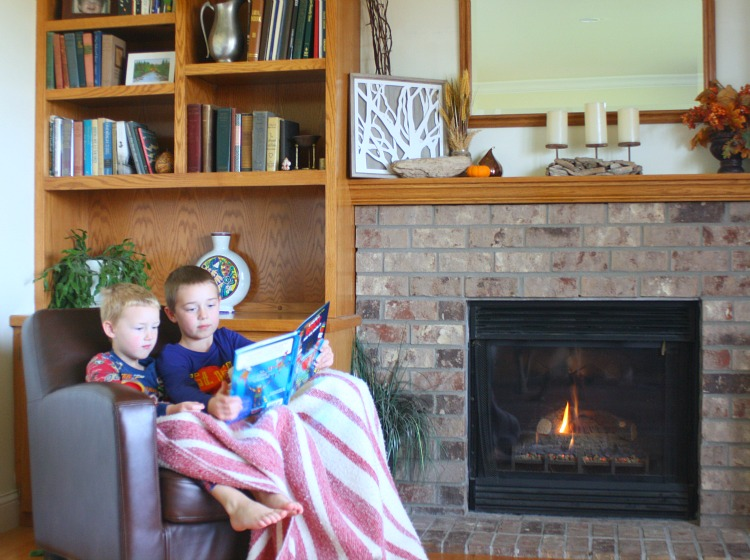 Snuggling By the Fire with a Good Book