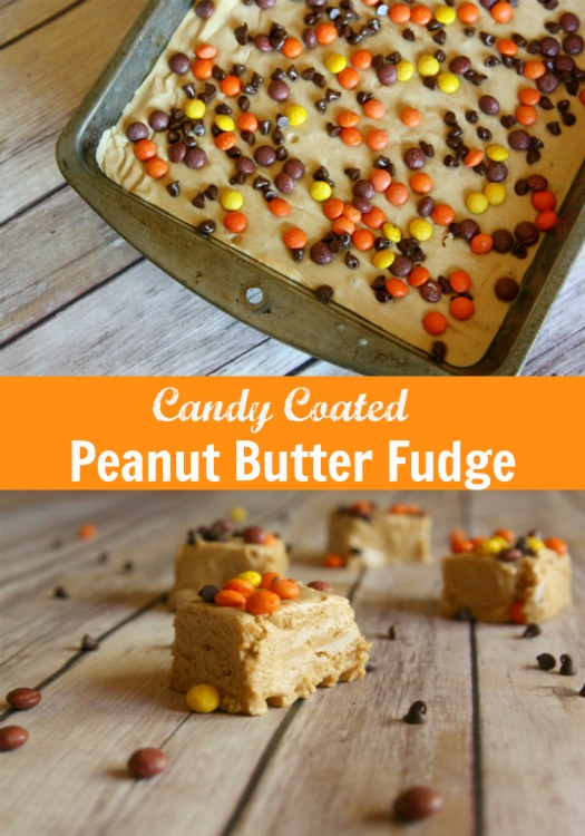 Candy Coated Peanut Butter Fudge