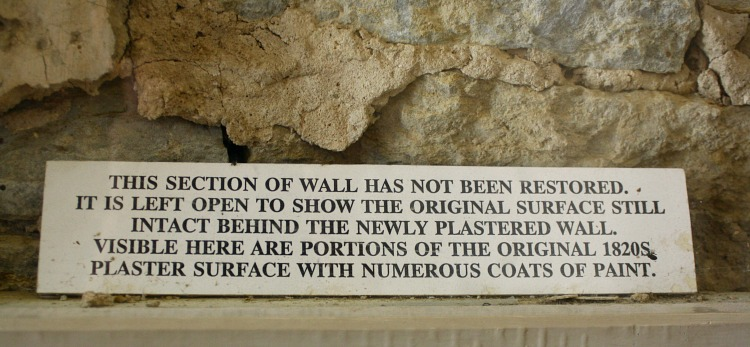 Plastered Wall at Fort Snelling