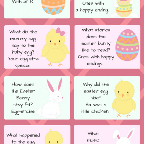 FREE Easter Printable Jokes: Seasonal Lunch Notes