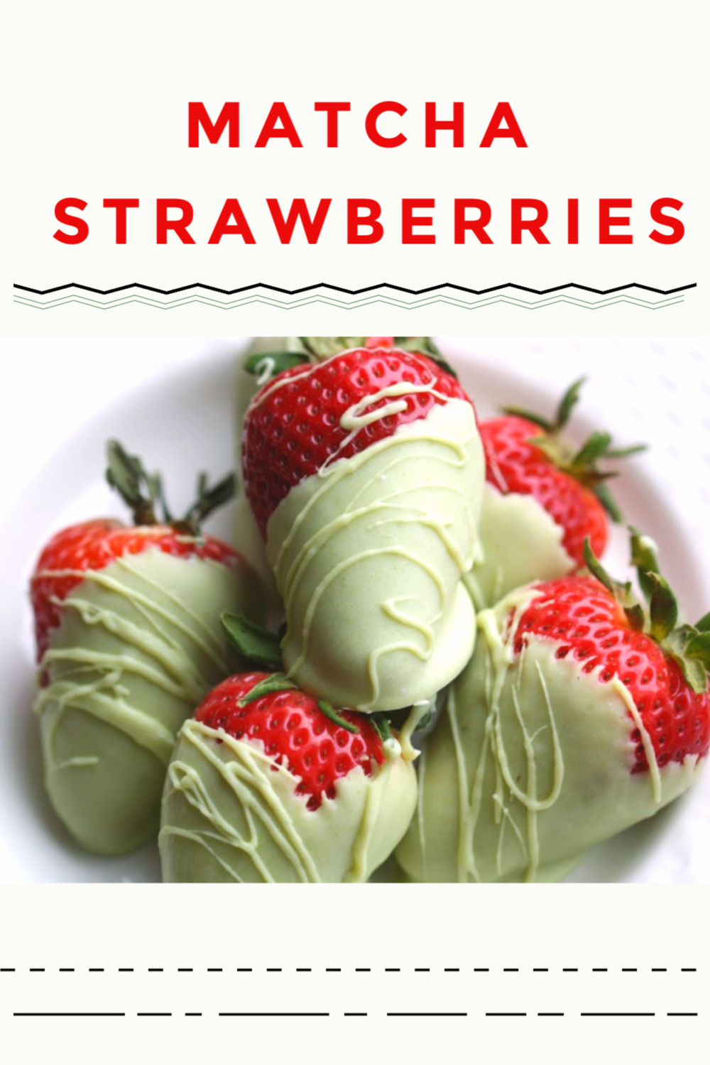 Strawberries Dipped in Matcha